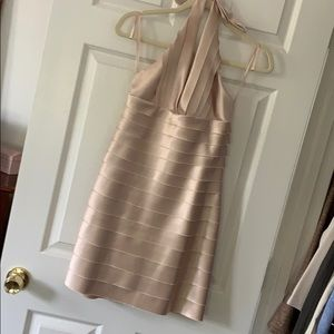 Sexy cocktail dress, champagne pink